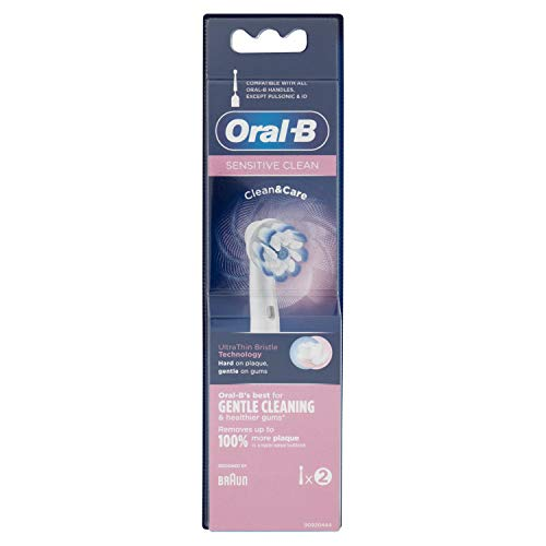Oral-B Sensitive Clean Testine di Ricambio per Spazzolino Elettrico Ricaricabile, 2 Pezzi