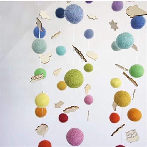 Campana de cama de fieltro, móvil de cuna, campanas de cama para bebé, móvil de música, campana para cama infantil, diseño de animales, multicolor