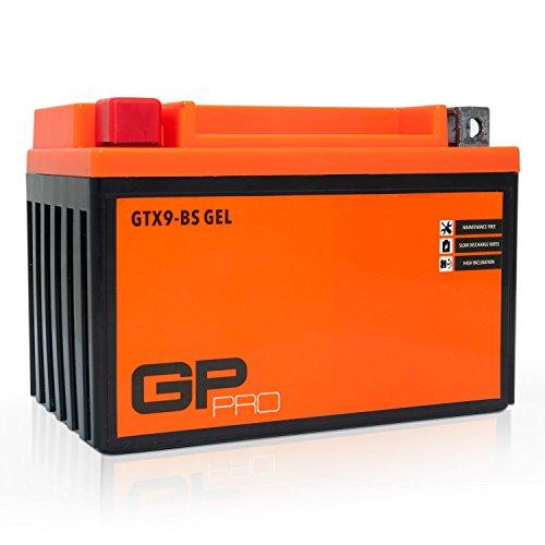 GP-PRO GTX9-BS 12V 9Ah GEL Batteria di avviamento (simile a YTX9-BS / 50812) (Esente da manutenzione / Sigillato) Moto Scooter Accumulato