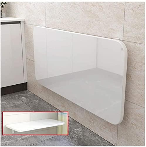 Mesa plegable para montar en la pared, mesa de comedor invisible - Consola de cocina - Mesa plegable para ordenador portátil - Escritorio de hojas - blanco de 100 x 50 cm / 39 x 19,5 pulgadas.
