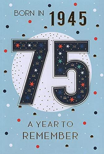 ICG Geburtstagskarte zum 75. Geburtstag für Männer, englische Aufschrift