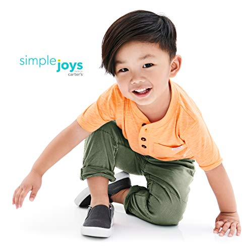 Simple Joys by Carter's Boys' Toddler 3-Pack Short Sleeve Henley, Orange, Blue, Red, 5T