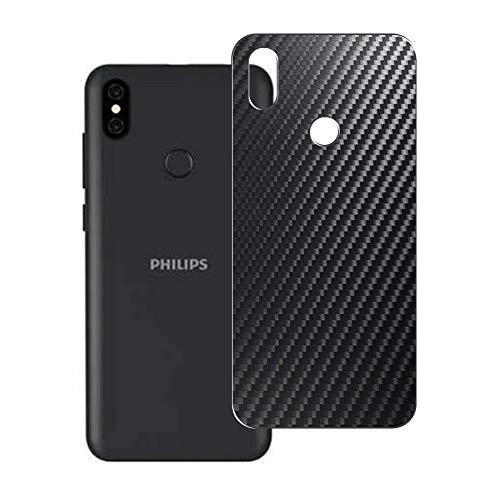 VacFun 2 Piezas Protector de pantalla Posterior, compatible con Philips S562Z, Película de Trasera de Fibra de carbono negra