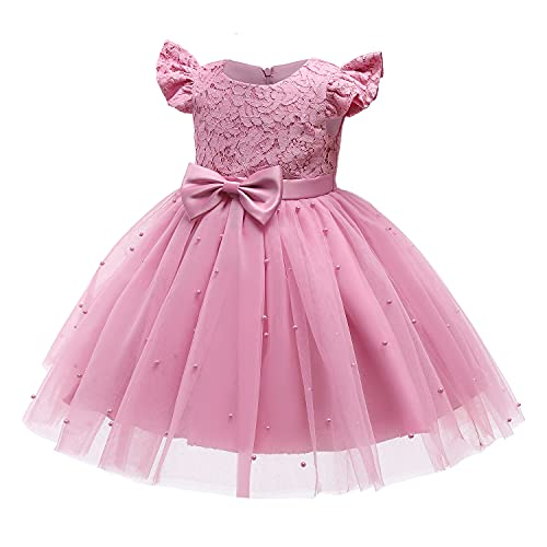 TTYAOVO Babyklänning för bröllop, festtåg, dop tutu-klänning för flickor, prinsessklänning