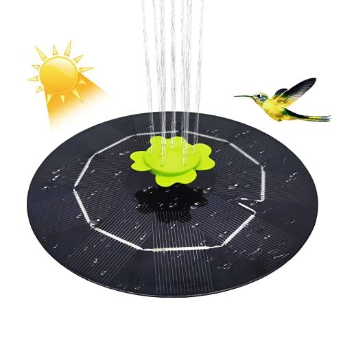 LionRoar 3 W Solar Springbrunnenpumpe, 9 Düsen mit 9 verschiedenen Wasserstilen, schwimmende solarbetriebene Wasserbrunnenpumpe für Vogelbad, Garten, Teich, Pool, Aquarium-Dekoration