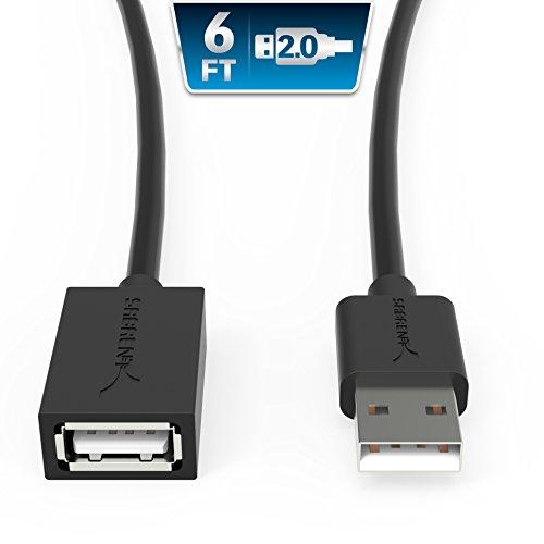 Sabrent 22 AWG Cavo di prolunga USB 2.0 - A-Maschio a A-Femmina [Nero] 180 cm (CB-2060)