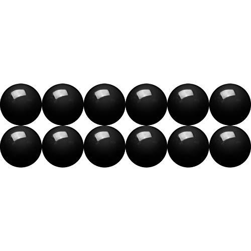 SEVEN9 gebohrte Onyx Perlen zum Basteln und zur Schmuckherstellung - 38 cm Strang, 8 mm Ø - Schwarze Halbedelsteine mit Loch zum Auffädeln - Echte Natursteinperlen für Armbänder