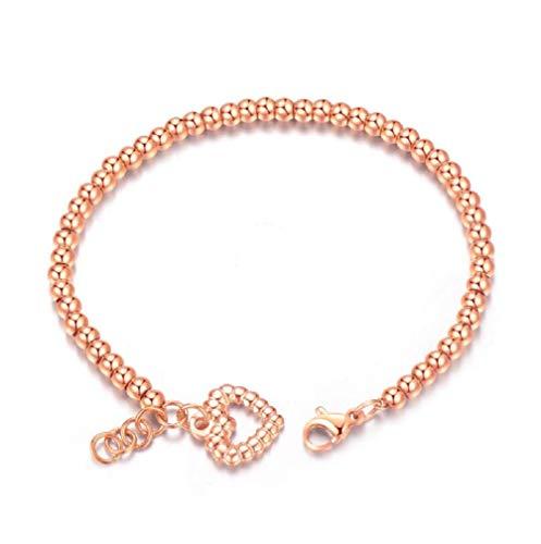 MXH Sieraden Liefde Platina Rose Goud Armband Vrouwen Titanium Staal Temperament Vrouwen Armband