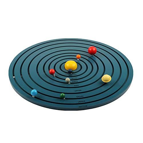 ROCK1ON Montessori Materiales de Ocho Planetas Tridimensionales de Madera, Sistema Solar,Ayuda a la enseñanza de Jardín de Infantes,Juguete Educativo para Regalo de niños y niñas