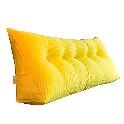 Lettura Pillow-Comodino Cuscino Semplice Big Torna Testata Soft Pack Torna Cuscino Letto Matrimoniale sul Tatami Triangle Waist Pillow FENPING (Color : #4, Size : 6 buckle180*20 * 50CM)