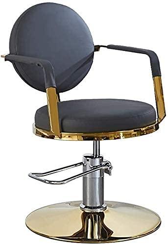JZYQWE Asiento cómodo, 360 Grados de Rodamiento Giratorio de Peluquería Sillas de Peluquería Spa Hidráulica de la