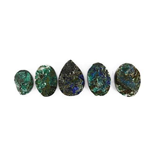 Piedra Cabujón de Azurita con Malquita Minerales y Cristales, Belleza Energética, Meditacion, Amuletos Espirituales