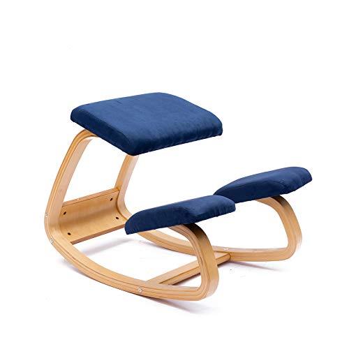 JZGORC Sedia ergonomica inginocchiato Grande Home Office o Sedia da scrivania (Flanella-Blu)