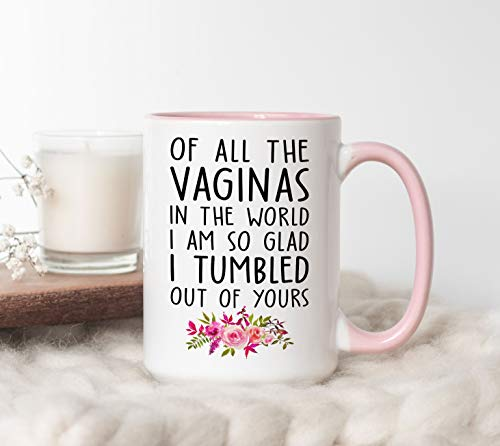 of All The Vaginas in The World I Am So Glad I Tumbled Out of Yours Mug, Funny Coffee Mug, Birthday Gift for Mom, Mother's Day