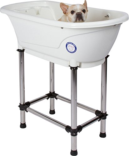 Flying Pig Pet Dog Cat Washing Shower Grooming Portable Bath Tub (White, 37.25'x19.25'x35.25')