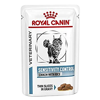 ROYAL CANIN Veterinary Diet Sensitivity Control Nourriture au Poulet pour Chat 12 Sachets 85 g