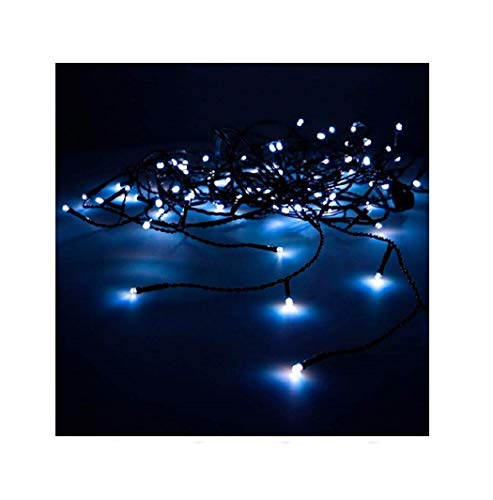 EDM Rideau Easy-Connect 10 bandes 100 LED Bleu 30 V 100 W (intérieur/extérieur), 2 x 1 m