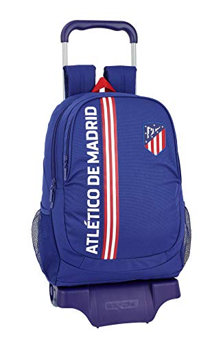 "Atlético de Madrid ""In Blue"" Oficial Mochila Escolar Con Carro 330x150x430mm"