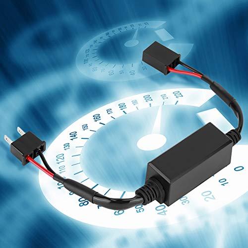Decodificador LED, 2 piezas de alto rendimiento, fácil de usar, decodificador de faros delanteros LED de PVC, piezas de automóvil para resolver el problema de parpadeo de la luz delantera,