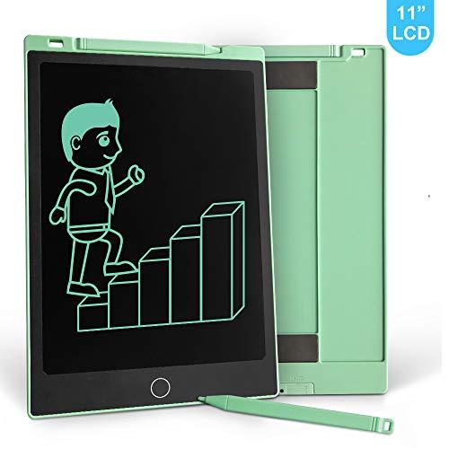 Richgv 11 Zoll LCD Schreibtafel mit Magnete/Stift/ 2 Batterien, Papierlos Grafiktabletts für Schreiben Malen Toll als Geschenk (Grün)