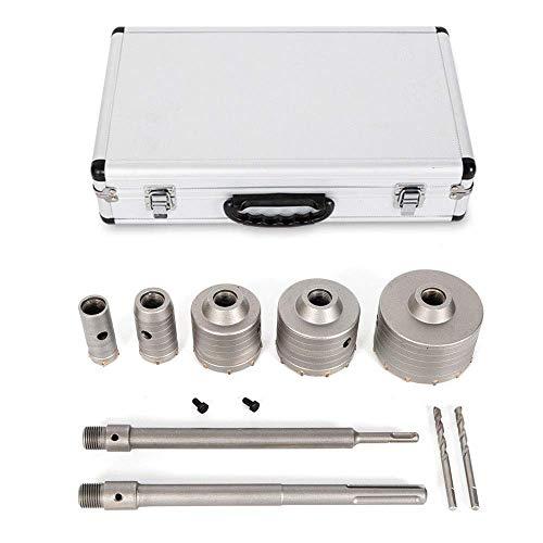 Relaxbx SDS-Plus/Max Adapte Betonboor Set Betonboor Boor Kan Boor Gat Boor Kern Boor Diameter 30-110 mm