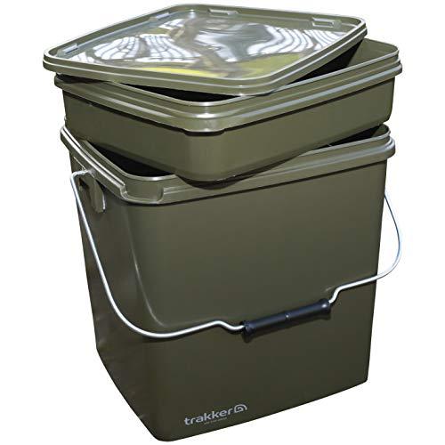 Trakker Olive Square Bucket 13 Liter Eimer