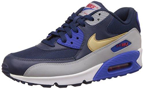 Nike Air Max 90 Essential, Leichtathletik, Herrenschuhe, Schwarz - Nero (Midnight Navy/Metallic Gold/Wolf Grey) - Größe: 43 EU