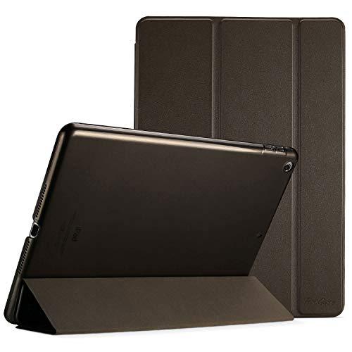 ProCase Hülle für iPad 9.7 2018 iPad 6 Gen /2017 iPad 5 Gen Schutzhülle Case Cover,Dreifach Ultra Dünn Leicht Klapphülle mit Transluzent Rückseite Smart Cover für ipad 9.7 Zoll –Braun