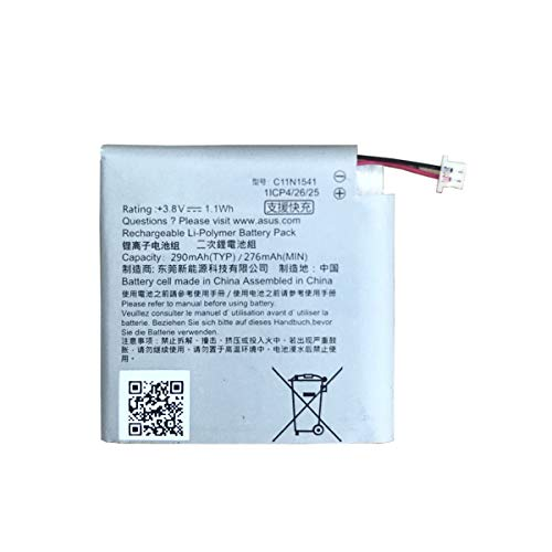 JIE Replacement Battery for Asus ZenWatch 2 W1502QF Smart Watch C11N1541 [3.8V 290mAh]