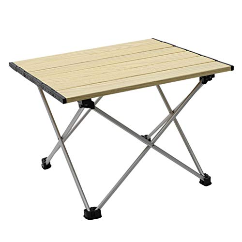 WUHUAROU Mesa de picnic portátil para acampar al aire libre plegable de aluminio mesa ligera para mochileros, viajes, playa, senderismo, escritorio (tamaño: M)