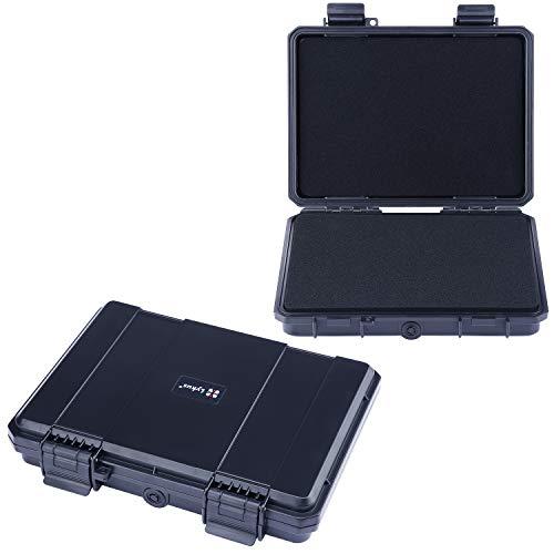 Lykus HC-2110 wasserabweisend Mini Koffer Trockenbox mit anpassbar Schaumstoff, Innengröße 21x15x3.8 cm