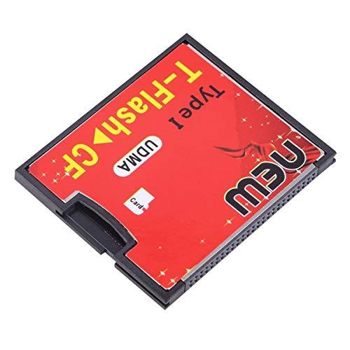 Greatangle Rot & Schwarz 4,3 x 3,5 x 0,4 cm Ausgestattet mit Push-Push-Buchse T-Flash auf CF Typ1 Compact Flash-Speicherkarte UDMA-Adapter Rot + Schwarz
