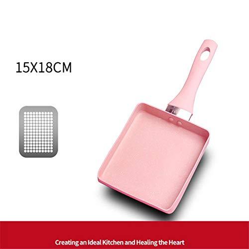 Oiuytghjkl Roze koekenpan steen aluminium koekenpan antiaanbakpan pannenkoekpan