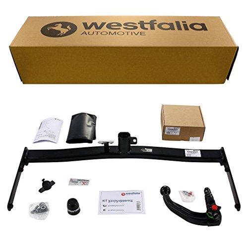 Westfalia abnehmbare Anhängerkupplung – AHK für Golf 5 Limousine, Golf 6 Limousine, Golf Plus & Crossgolf – Im Set mit 13-poligem fahrzeugspezifischem Elektrosatz
