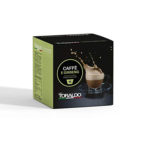 Caffè Toraldo Ginseng Capsules Compatibili con 'Nescafè Dolce Gusto' 16 Capsules