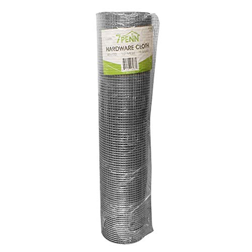 7Penn Small Chicken Wire Fencing Wire Mesh Screen Roll, Garden Mesh Roll Wire Netting...
