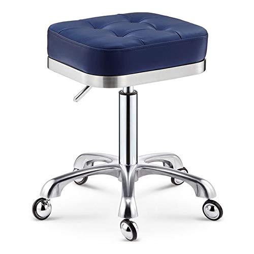 SXFYWYM kruk draaibaar op wieltjes in hoogte verstelbaar met comfortabele massagestoel voor woonkamer, zadel draaibaar