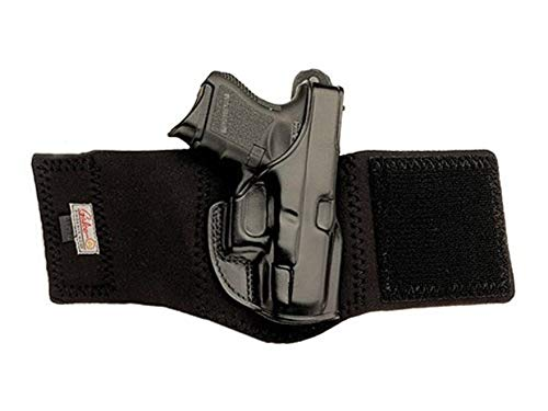Galco Ankle Glove Holster Right Hand Glock 48 Leather with Neoprene Leg Band.