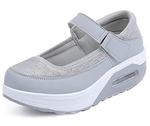 Aitaobao Damen Walkingschuhe Shape Ups Gewichtsverlust Schuhe Arbeits Freizeitschuhe Krankenschwester Schuhe Bequem Turnschuhe Outdoor Walking Schuhe