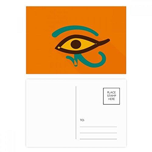DIYthinker Altes Ägypten Abstraktes Auge Muster Postkartenset Geburtstag dankt Karte Mailing Side 20pcs 5.7 Zoll x 3.8 Zoll Mehrfarbig
