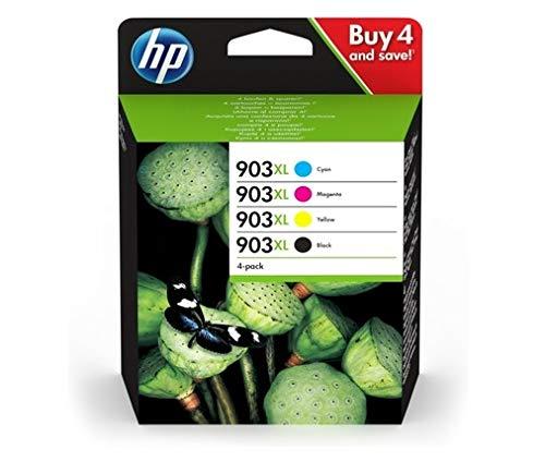 HP 903XL 3HZ51AE, Pack de 4, Cartuchos de Tinta Originales d