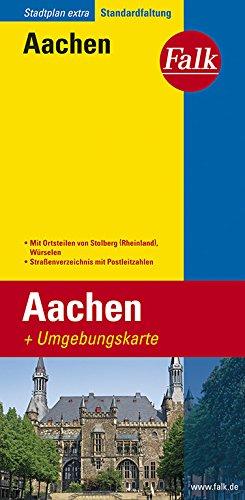 Falk Stadtplan Extra Standardfaltung Aachen