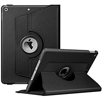 Fintie Rotating Case for New iPad 8th Gen  2020  / 7th Generation  2019  10.2 Inch - [Built-in Pencil Holder] 360 Degree Rotating Smart Protective Stand Cover with Auto Sleep/Wake Black
