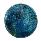 Ciottolo di Apatite Blu - Pietra naturale Anti Stress e per la Creatività - Litoterapia per Benessere Meditazione Yoga - 100% naturale e artigianale - Apatite Bleue di alta qualità - EUSICE