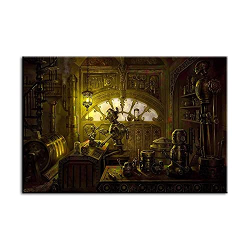 Hd Print Poster Home Decoraiton Canvas Game Steampunk Fantasy Painting Wall Artwork Modern for Bedroom Picture-28x40 inch No Frame steampunk buy now online