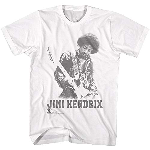 Jimi Hendrix - - Männer Ghost Jimi T-Shirt, Small, White