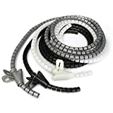 Kit de herramientas GIlH 2m Cable Tidy Wire Wrap Organizador espiral...