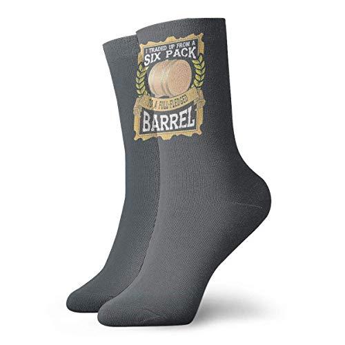 Adamitt Cambié de un paquete de seis a un barril de cerveza de promesa completa, unisex, moda, novedad, calcetines, calcetines de vestir, calcetines divertidos