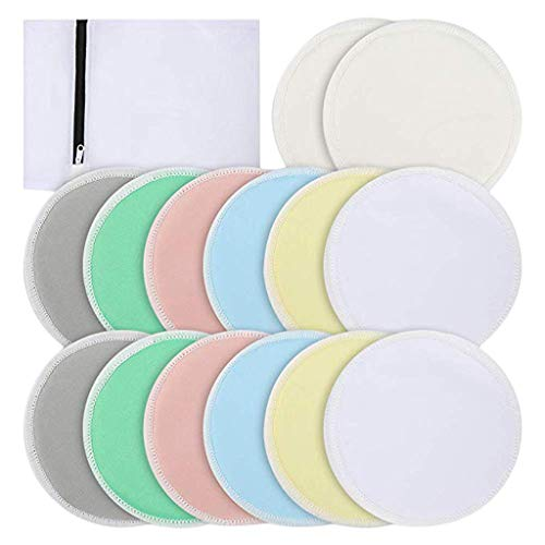 Fantastic Deal! CreazyBee 14PCS Washable Nursing Pads, Reusable Organic Bamboo Breast Pads with Laun...