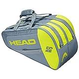 Head Core Combi Bolsa Tenis, Unisex-Adult, Gris/Amarillo, La